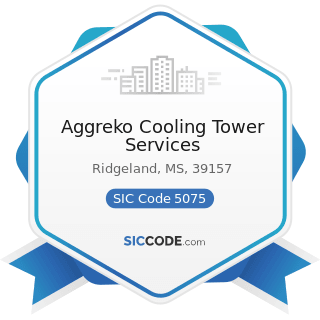 Aggreko Cooling Tower Services - SIC Code 5075 - Warm Air Heating and Air-Conditioning Equipment...