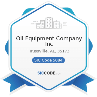Oil Equipment Company Inc - SIC Code 5084 - Industrial Machinery and Equipment