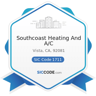 Southcoast Heating And A/C - SIC Code 1711 - Plumbing, Heating and Air-Conditioning