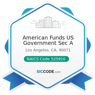 American Funds US Government Sec A - NAICS Code 525910 - Open-End Investment Funds