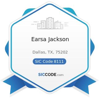 Earsa Jackson - SIC Code 8111 - Legal Services