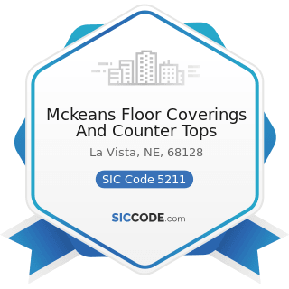 Mckeans Floor Coverings And Counter Tops - SIC Code 5211 - Lumber and other Building Materials...