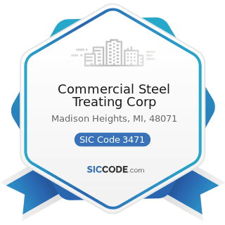 Commercial Steel Treating Corp - SIC Code 3471 - Electroplating, Plating, Polishing, Anodizing,...