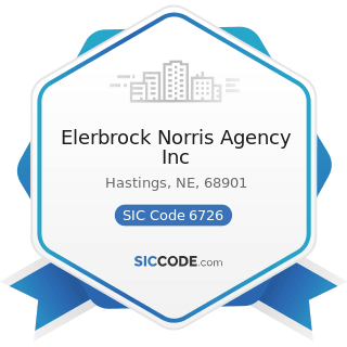 Elerbrock Norris Agency Inc - SIC Code 6726 - Unit Investment Trusts, Face-Amount Certificate...