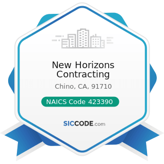 New Horizons Contracting - NAICS Code 423390 - Other Construction Material Merchant Wholesalers
