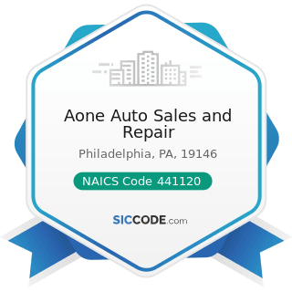 Aone Auto Sales and Repair - NAICS Code 441120 - Used Car Dealers