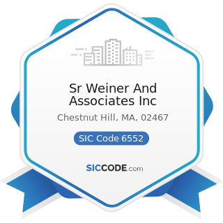 Sr Weiner And Associates Inc - SIC Code 6552 - Land Subdividers and Developers, except Cemeteries