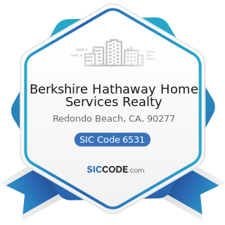 Berkshire Hathaway Home Services Realty - SIC Code 6531 - Real Estate Agents and Managers