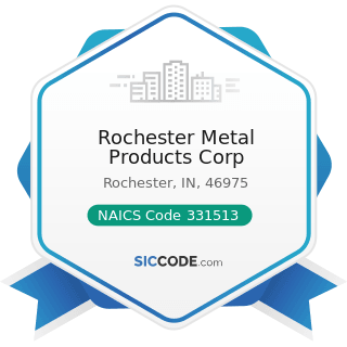 Rochester Metal Products Corp - NAICS Code 331513 - Steel Foundries (except Investment)