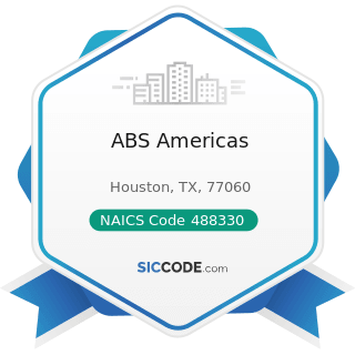 ABS Americas - NAICS Code 488330 - Navigational Services to Shipping