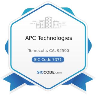 APC Technologies - SIC Code 7371 - Computer Programming Services