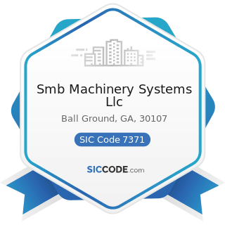 Smb Machinery Systems Llc - SIC Code 7371 - Computer Programming Services