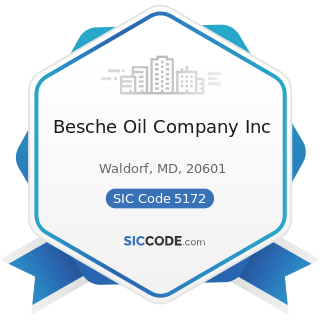 Besche Oil Company Inc - SIC Code 5172 - Petroleum and Petroleum Products Wholesalers, except...