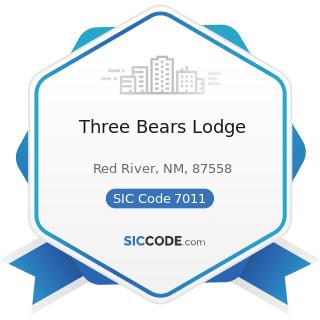 Three Bears Lodge - SIC Code 7011 - Hotels and Motels