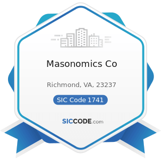 Masonomics Co - SIC Code 1741 - Masonry, Stone Setting, and Other Stone Work
