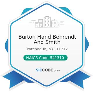 Burton Hand Behrendt And Smith - NAICS Code 541310 - Architectural Services