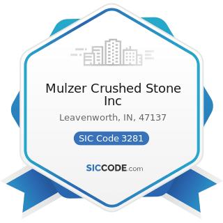 Mulzer Crushed Stone Inc - SIC Code 3281 - Cut Stone and Stone Products