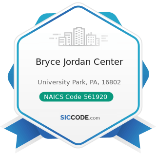 Bryce Jordan Center - NAICS Code 561920 - Convention and Trade Show Organizers