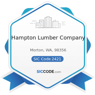 Hampton Lumber Company - SIC Code 2421 - Sawmills and Planing Mills, General