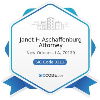 Janet H Aschaffenburg Attorney - SIC Code 8111 - Legal Services