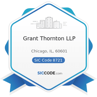 Grant Thornton LLP - SIC Code 8721 - Accounting, Auditing, and Bookkeeping Services