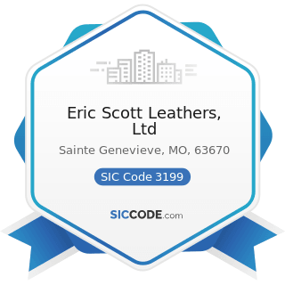 Eric Scott Leathers, Ltd - SIC Code 3199 - Leather Goods, Not Elsewhere Classified