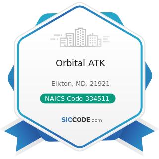 Orbital ATK - NAICS Code 334511 - Search, Detection, Navigation, Guidance, Aeronautical, and...