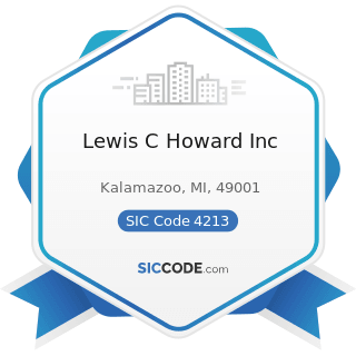 Lewis C Howard Inc - SIC Code 4213 - Trucking, except Local