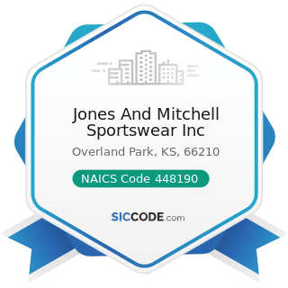 Jones And Mitchell Sportswear Inc - NAICS Code 448190 - Other Clothing Stores