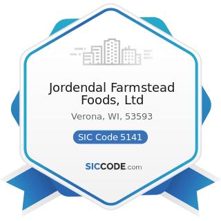 Jordendal Farmstead Foods, Ltd - SIC Code 5141 - Groceries, General Line