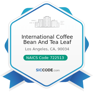 International Coffee Bean And Tea Leaf - NAICS Code 722513 - Limited-Service Restaurants