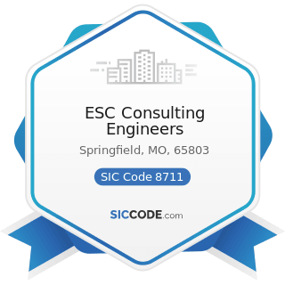 ESC Consulting Engineers - SIC Code 8711 - Engineering Services