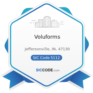 Voluforms - SIC Code 5112 - Stationery and Office Supplies