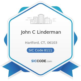 John C Linderman - SIC Code 8111 - Legal Services