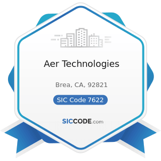 Aer Technologies - SIC Code 7622 - Radio and Television Repair Shops