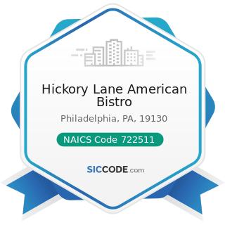 Hickory Lane American Bistro - NAICS Code 722511 - Full-Service Restaurants