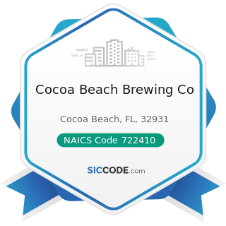 Cocoa Beach Brewing Co - NAICS Code 722410 - Drinking Places (Alcoholic Beverages)