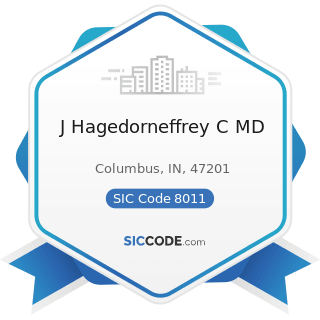 J Hagedorneffrey C MD - SIC Code 8011 - Offices and Clinics of Doctors of Medicine