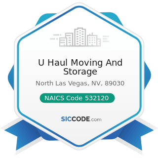 U Haul Moving And Storage - NAICS Code 532120 - Truck, Utility Trailer, and RV (Recreational...