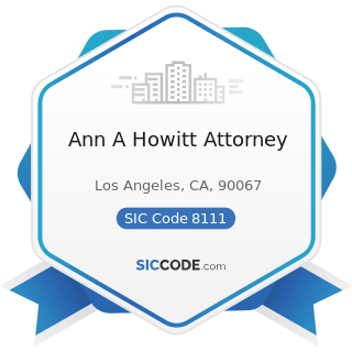 Ann A Howitt Attorney - SIC Code 8111 - Legal Services