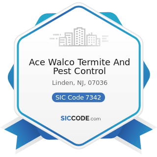 Ace Walco Termite And Pest Control - SIC Code 7342 - Disinfecting and Pest Control Services