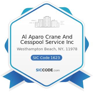 Al Aparo Crane And Cesspool Service Inc - SIC Code 1623 - Water, Sewer, Pipeline, and...
