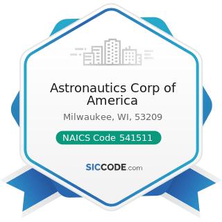 Astronautics Corp of America - NAICS Code 541511 - Custom Computer Programming Services