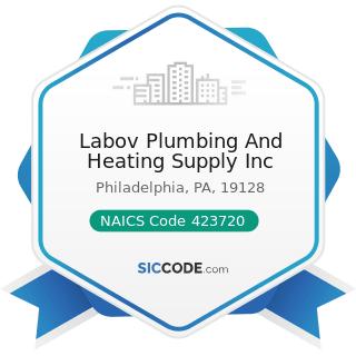 Labov Plumbing And Heating Supply Inc - NAICS Code 423720 - Plumbing and Heating Equipment and...