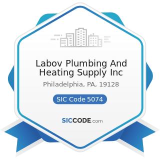 Labov Plumbing And Heating Supply Inc - SIC Code 5074 - Plumbing and Heating Equipment and...