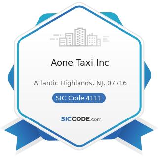 Aone Taxi Inc - SIC Code 4111 - Local and Suburban Transit