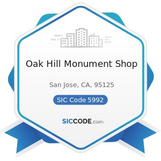 Oak Hill Monument Shop - SIC Code 5992 - Florists