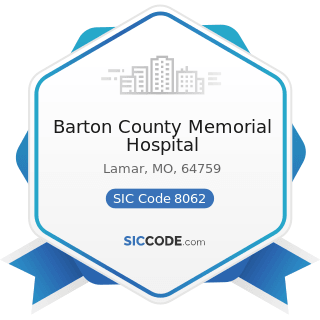 Barton County Memorial Hospital - SIC Code 8062 - General Medical and Surgical Hospitals