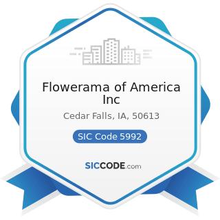 Flowerama of America Inc - SIC Code 5992 - Florists