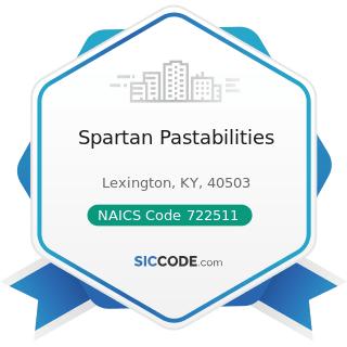 Spartan Pastabilities - NAICS Code 722511 - Full-Service Restaurants